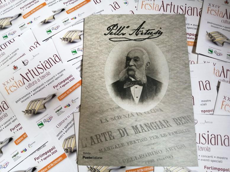 folder francobollo bicentenario della nascita di Pellegrino Artusi