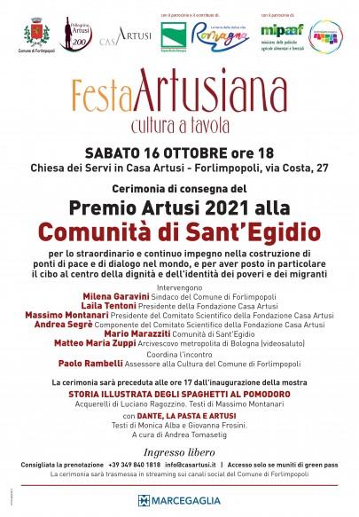 manifesto Premio Artusi 2021