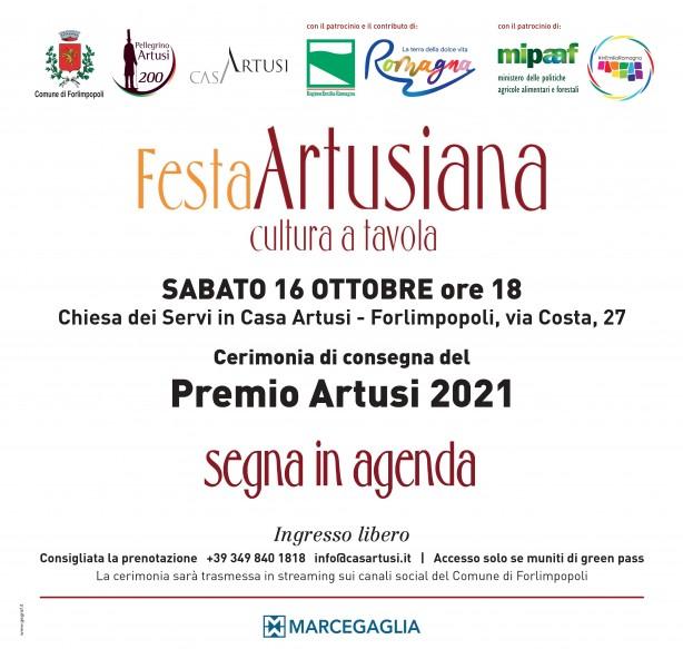 save the date Premio Artusi 2021